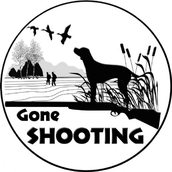 GONE SHOOTING 4x4 Spare Wheel Cover DECAL STICKER